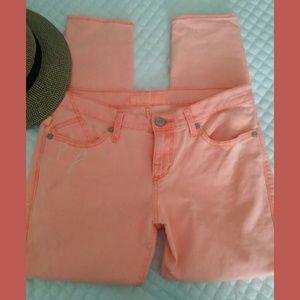 Rock & Republic Neon Orange Skinny Jeans Sz 6